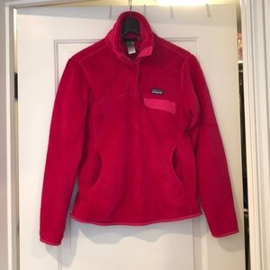 Patagonia hot pink Re-tool Snap pullover, sz small